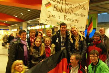 Weltmeisterlicher Empfang für Jannis Bäcker