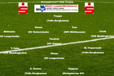 Fußball: Mannschaft des Tages von Westfalenliga bis Bezirksliga