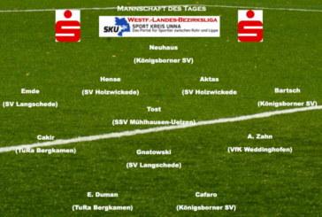 Fußball: Mannschaft des Tages Westfalenliga, Landesliga, Bezirksliga