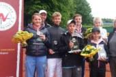 49. Westfälische Tennis-Jugendmeisterschaften U12 bis U16: Gleich sechs Spieler schaffen das Double