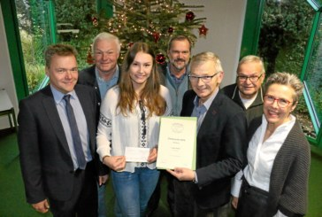 Laura Nolte erhält nachträglich den Unnaer Förderpreis