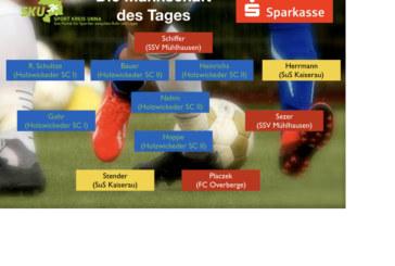 Fußball- Westfalen-, Landes- und Bezirksliga: Mannschaft des Tages