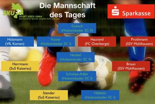 Fußball-Verbands-, Landes- und Bezirksliga: Mannschaft des Tages