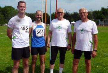 Oberadener Sprinter, Springer und Werfer an drei Orten mit drei Vereinsrekorden