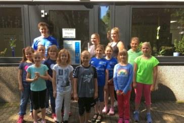 Sommerfest beim Königsborner SV – Werbung für den Kinderhandball- Spieleparcours