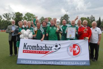 Fußball im Alter wird immer beliebter – Krombacher Ü60 Westfalen Cup am Samstag in Kaiserau