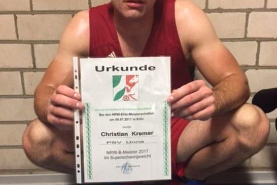 Christian Kremer holt NRW-Titel zum zweiten Mal in Folge