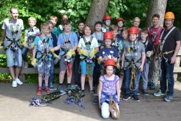 TVG-Handballer im Kletterpark