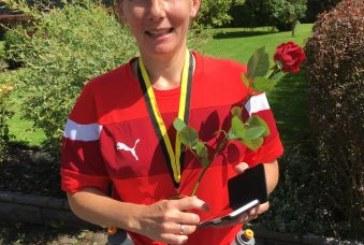 Tina Ebbing beim Monschau Marathon am Start
