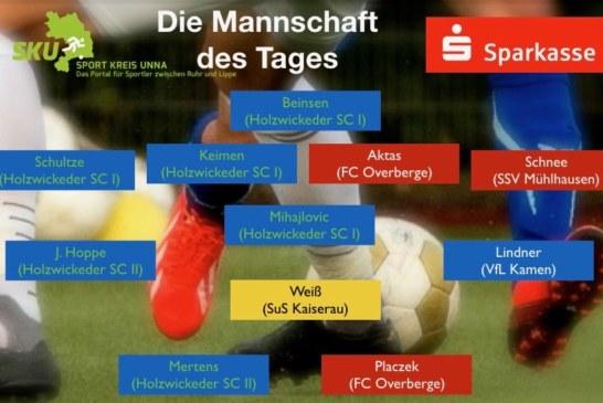 Fußball-Westfalen-, Landes- und Bezirksliga: Mannschaft des Tages vom 6. Spieltag