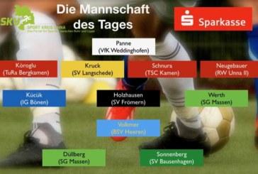 Fußball-Kreisliga: Mannschaft des Tages vom 6. Spieltag