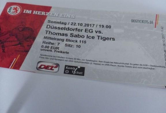 SKU verschenkt zwei Tickets für Heimspiel der Düsseldorfer EG