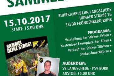 Stickeralbum-Aktion beginnt am Sonntag beim SV Langschede und TuS Jahn Dellwig