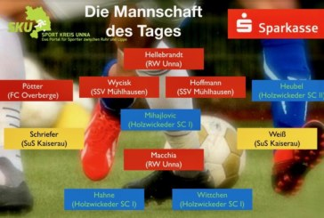 Fußball-Westfalen-, Landes- und Bezirksliga: Mannschaft des Tages