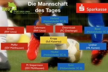 Fußball-Westfalen-, Landesliga- und Bezirksliga: Mannschaft des Tages