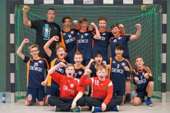TuS Overberge mit der männlichen D-Jugend Meister in der 1. Kreisklasse