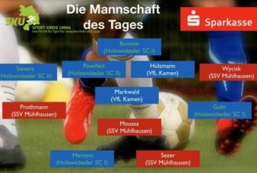 Fußball, Westfalen-, Landes- und Bezirksliga – Mannschaft des Tages