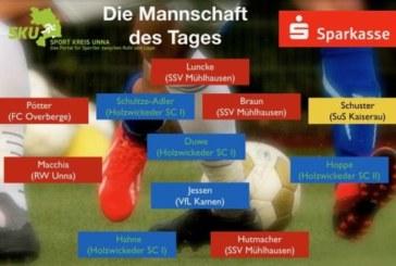 Fußball: Westfalen-, Landes- und Bezirksliga – Mannschaft des Tages
