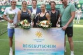 """Julia Görges und Tommy Haas gewinnen die """"schauinsland-reisen Champions Trophy"""" im Mixed – Letzter Auftritt von Michael Stich"""