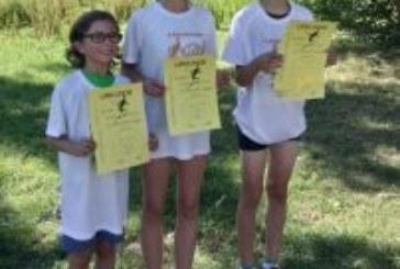 Oberadener Jugendläufer beim Crosslauf