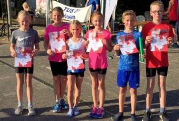 U12-Mixed-Staffel von TuRa Bergkamen Kreismeister