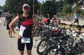 Daniel Kusche beim Triathlon in Essen am Start