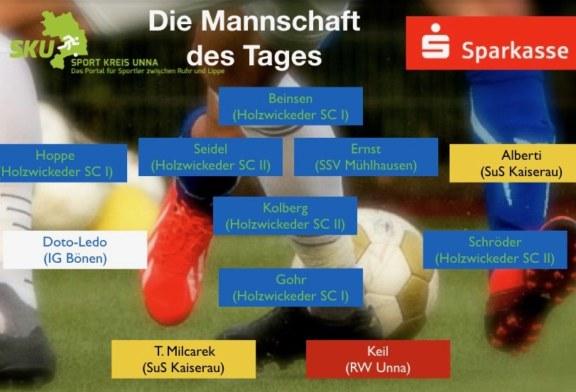Fußball: Oberliga – Landesliga – Bezirksliga – Mannschaft des Tages