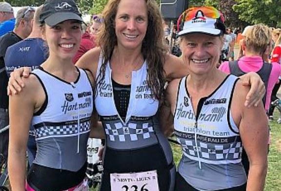 Damenmannschaft des Hartman-Triathlon-Teams mit solidem Ergebnis im letzten Saisonstart
