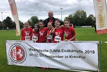 Dritter Platz für TV-Unnas Nachwuchsathletinnen beim DSMM Westfalenfinale