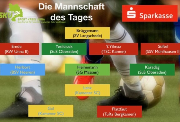 Fußball-Kreisliga: Mannschaft des Tages