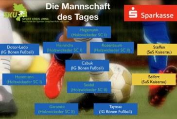 Fußball-Ober- Landes- und Bezirksliga: Mannschaft des Tages