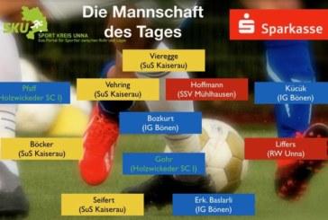 Fußball-Ober-, Landes- und Bezirksliga: Mannschaft des Tages