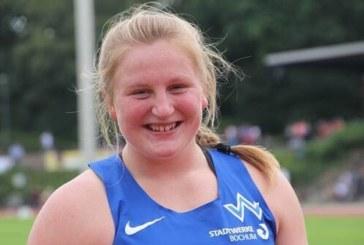 Julia Ritter verbessert mit der Kugel ihre Bestmarke auf 16,99 Meter