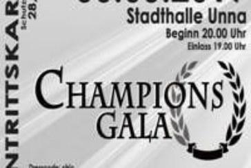 Champions Gala steigt in der Unnaer Stadthalle am 30. März – Gewinnspiel
